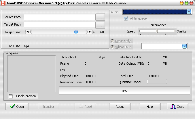 AmoK DVD Shrinker screenshot