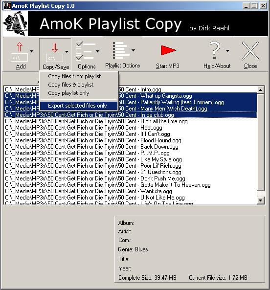 Windows 7 AmoK Playlist Copy 2.01 full