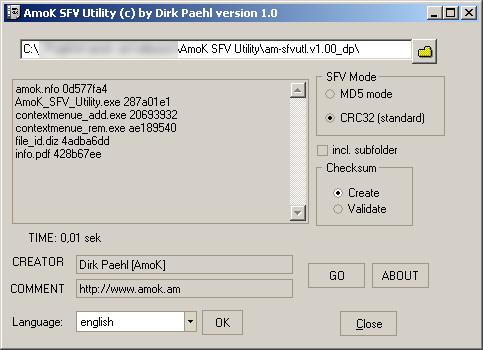 Windows 7 AmoK SFV Utility 1.02 full